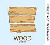 wood plank. vector illustration | Shutterstock .eps vector #375034480