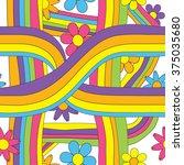 a seamless pattern of flowers... | Shutterstock .eps vector #375035680
