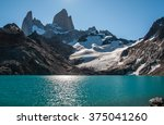 lagoon de los tres and fitz roy ... | Shutterstock . vector #375041260