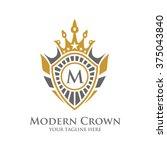 crest logo  elegant modern... | Shutterstock .eps vector #375043840