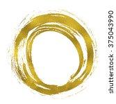 gold texture paint hand drawn...   Shutterstock . vector #375043990