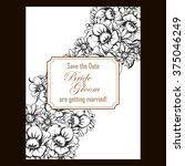 romantic invitation. wedding ...   Shutterstock .eps vector #375046249