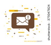 linear mobile mail notification.... | Shutterstock .eps vector #375047824