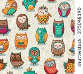 seamless pattern with tribal... | Shutterstock .eps vector #375048190