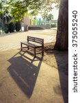 shadow of a single chair in the ... | Shutterstock . vector #375055240