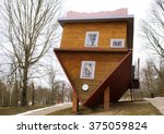 Wooden Upside Down House In...