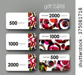 gift coupon  discount card... | Shutterstock .eps vector #375081718