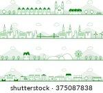 cityscape vector illustration | Shutterstock .eps vector #375087838