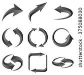 set of gray arrows. vector... | Shutterstock .eps vector #375088030