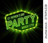 st. patrick day poster. vector... | Shutterstock .eps vector #375091228