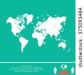 world map illustration | Shutterstock .eps vector #375093484