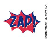 """popart explosion with text """"zap"""" 