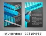 abstract vector modern flyers... | Shutterstock .eps vector #375104953