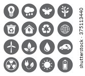 set of vector eco icons in flat ... | Shutterstock .eps vector #375113440