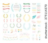 vector set of hand drawing ... | Shutterstock .eps vector #375114370