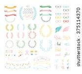 vector set of hand drawing ... | Shutterstock .eps vector #375114370