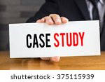 case study  message on white... | Shutterstock . vector #375115939