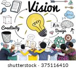 vision creative ideas design... | Shutterstock . vector #375116410