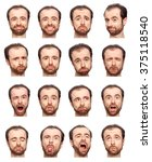 bald beard adult caucasian man... | Shutterstock . vector #375118540