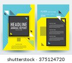 abstract vector modern flyers... | Shutterstock .eps vector #375124720