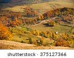 autumnal mountain landscape... | Shutterstock . vector #375127366