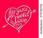 vintage 'all you need is love'... | Shutterstock . vector #375130753