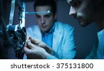 engineering team working on a... | Shutterstock . vector #375131800