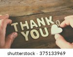thank you letters and men's... | Shutterstock . vector #375133969