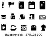 set of kitchenware isolated... | Shutterstock . vector #375135100