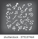 arrow doodle set on black board | Shutterstock .eps vector #375137464