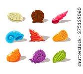 Sparkling Cartoon Sea Shells....