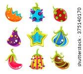 bright glossy fantasy fruits ...
