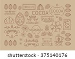 cocoa icon  logo  signs and... | Shutterstock .eps vector #375140176
