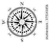 compass navigation dial  ... | Shutterstock .eps vector #375141856