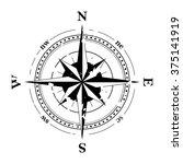 compass navigation dial  ... | Shutterstock .eps vector #375141919