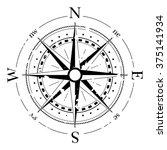 compass navigation dial  ...   Shutterstock .eps vector #375141934