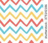 abstract bright colorful zigzag ... | Shutterstock .eps vector #375142186