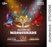 Masquerade Realistic Poster...
