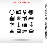 travel icons set | Shutterstock .eps vector #375146890