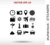 travel icons set | Shutterstock .eps vector #375146890