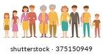 family. generations. vector... | Shutterstock .eps vector #375150949