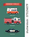 cool set of city emergency and... | Shutterstock .eps vector #375156079