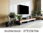 living room with smart... | Shutterstock . vector #375156766