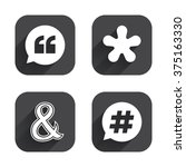 Quote  Asterisk Footnote Icons...