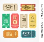 coupon and tickets set. free... | Shutterstock .eps vector #375164074