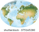 illustration world map and the... | Shutterstock . vector #375165280