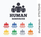 human resources sign icon. hr... | Shutterstock .eps vector #375170143