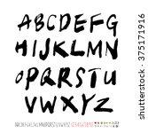 alphabet   number   handwriting ...   Shutterstock .eps vector #375171916