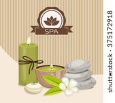 spa theme object. different... | Shutterstock .eps vector #375172918