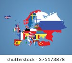 detailed map of europe with all ... | Shutterstock .eps vector #375173878